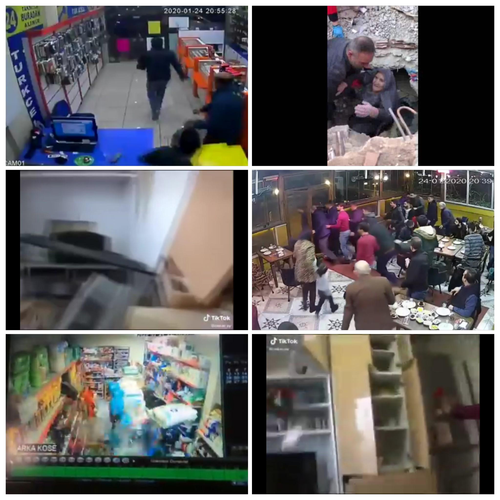 لقطات مخيفة لحظة الزلزال في فيديو واحد 1