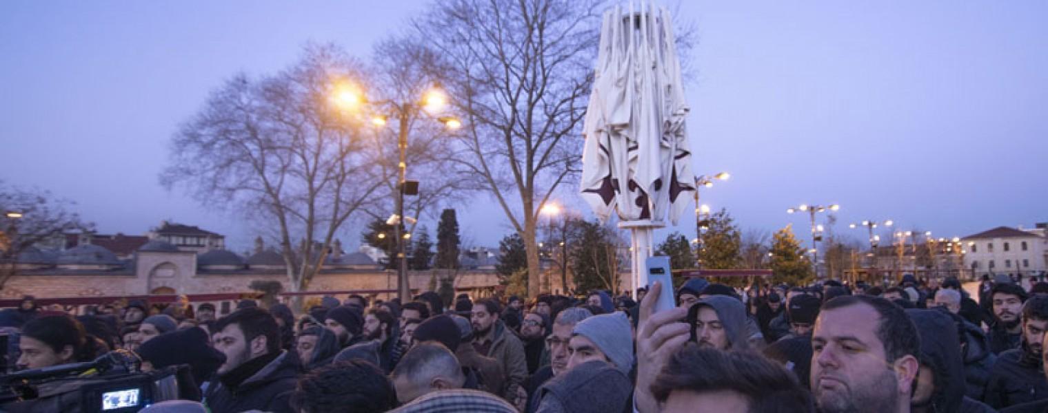 إسطنبول : وقفة تضامنية مع خطيب الأقصى وسكان القدس 1