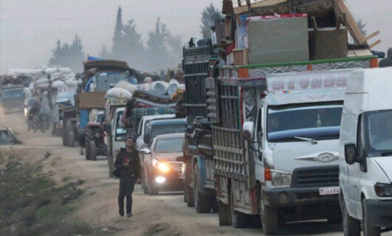 200 غارة جوية على إدلب ونحو 700 ألف شخص نزحو باتجاه الحدود التركية 1