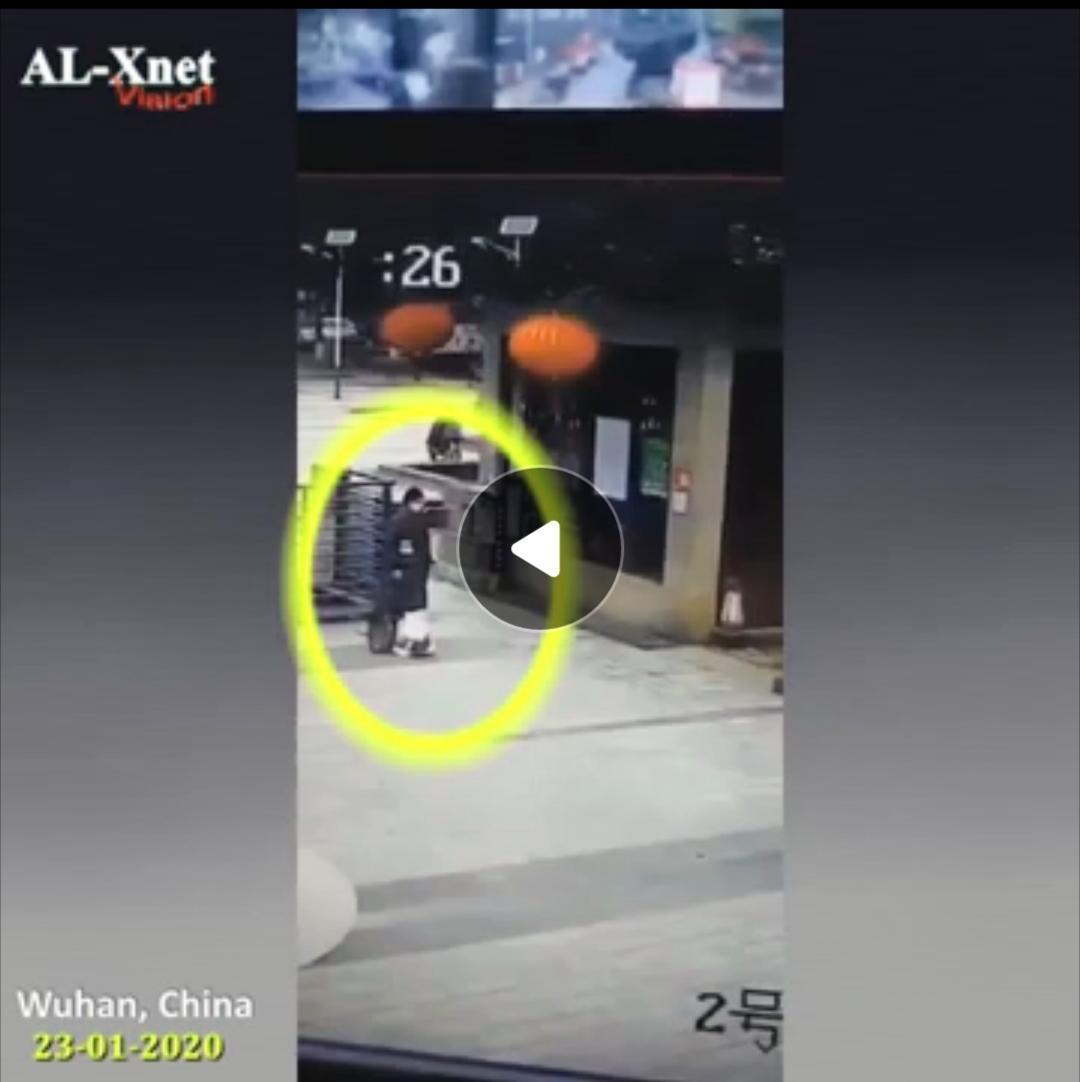 شاهد فيديو تساقط الناس في الصين بسبب فيروس كورونا 1