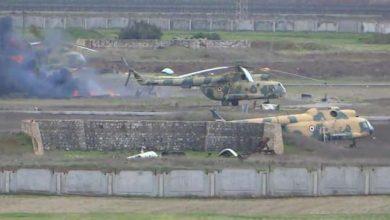 """صورة خروج مطار """"النيرب"""" عن الخدمة إثر استهداف تركي"""