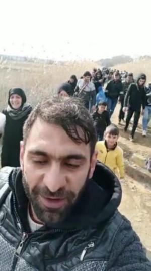 دخول مجموعة من المهاجرين إلى الأراضي اليونانية 1