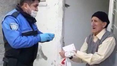 صورة مسن تركي يفاجئ الشرطة بطلب طريف جداَ!!
