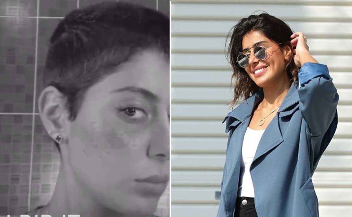 """""""شاهد"""" فنانة كويتية مشهورة تحلق شعرها """"زيرو"""" على الهواء وتثير الجدل:""""شعور ولا أروع"""" 1"""