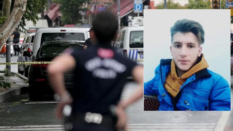 صورة الشرطي التركي يدلي بشهادته بما يتعلق بمقتل الشب السوري في أضنة