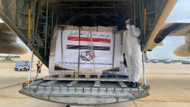 صورة بالفيديو.. وصول المساعدات المصرية إلى الولايات المتحدة