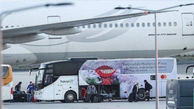 صورة السلطات التركية تستقبل دفعة جديدة من مواطنيها العالقين في كندا اثر فيروس الكورونا