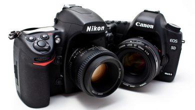 صورة مقارنة بين Nikon و Canon أي كاميرا يجب أن تشتري