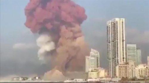 لبنان.. انفجار هائل في مرفأ بيروت تفاصيل كاملة