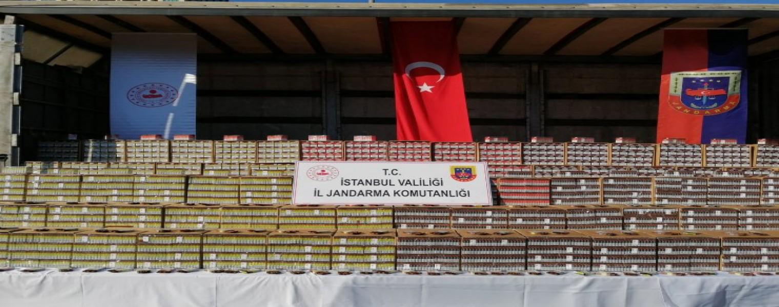 ضبط 80 ألف علبة سيجار مهرّب في ولاية اسطنبول 1