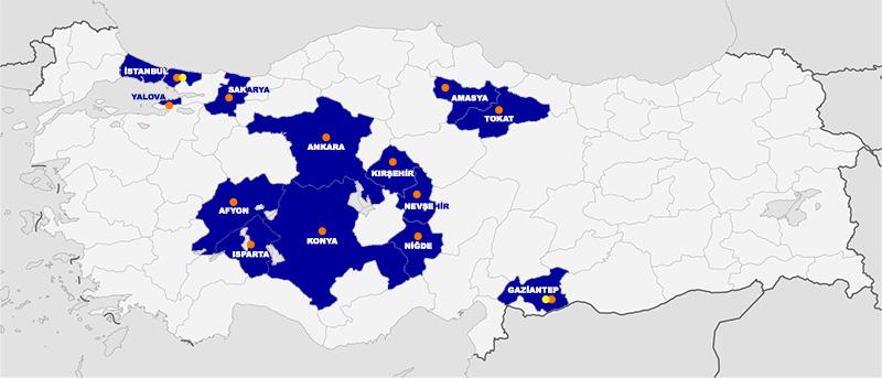 عناوين مكاتب ASAM في تركيا 6